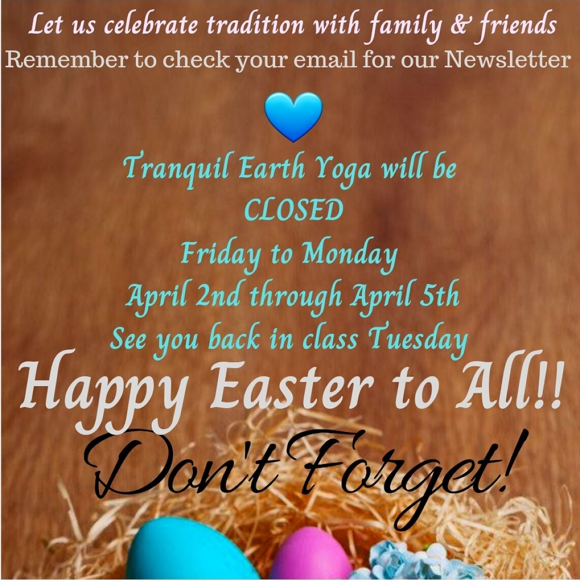 Tranquil Earth Newsletter, Spring is here!!! Image